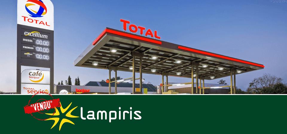 Passage de Lampiris entre les mains de Total