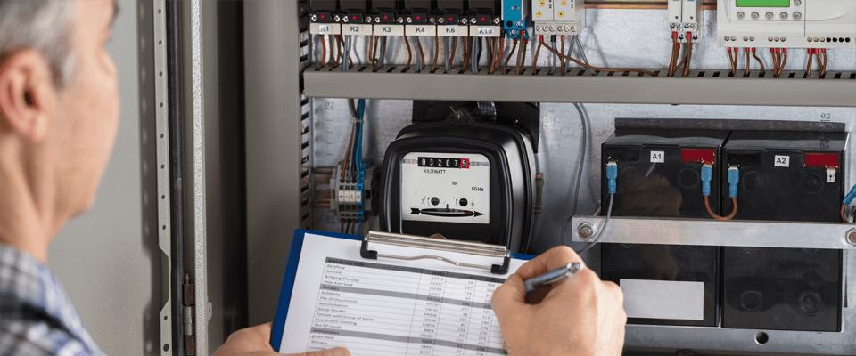 Relevé de l'index du compteur d'énergie