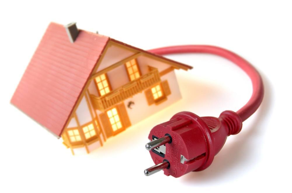 Maison raccordée à l'électricité
