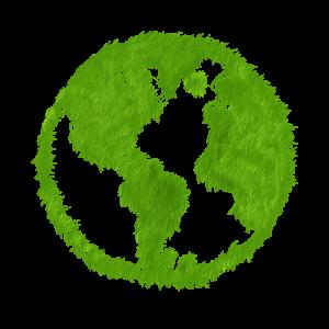 La Terre de couleur verte