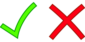 Coche verte et croix rouge