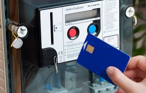 Compteur à budget avec carte de recharge