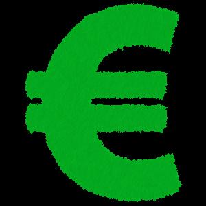 Symbole de l'euro de couleur verte