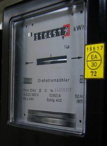 Elektriciteitsmeter met duidelijk zichtbare teller