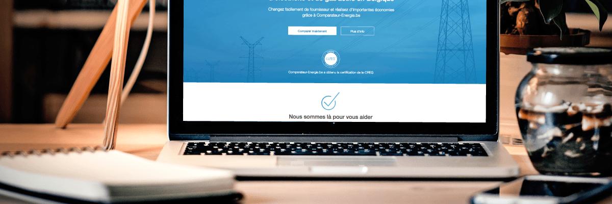 Page d'accueil du comparateur de prix comparateur-energie.be