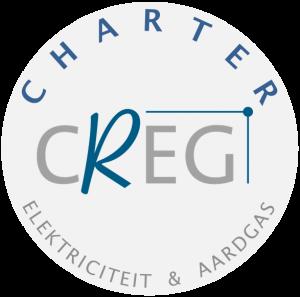 Logo van het charter voor goede praktijken voor online prijsvergelijking voor elektriciteit en gas