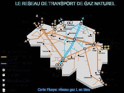 Réseau de transport de gaz naturel en Belgique - Fluxys